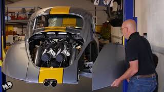 Volkswagen VW Beetle Bug V8 Biturbo Built Vocho Fusca Kafer Overhaulin Full HD