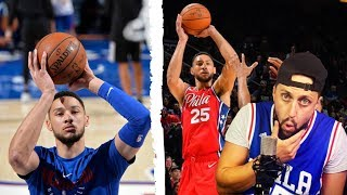 Ben Simmons NEW jump shot form vs OLD jump shot form | Breakdown