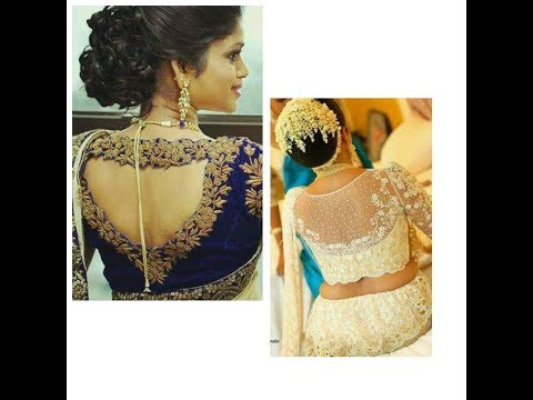 Designer Blouse And Hairstylepart 12018 Latest Back Neck Design