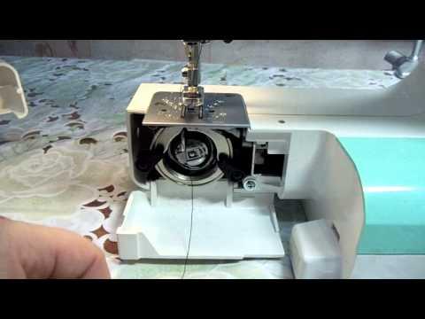 Как правильно заправить нитку в шпульку Швейная машинка JANOME 2055