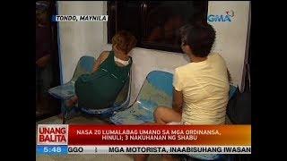 UB: Nasa 20 lumabag umano sa mga ordinansa, hinuli; 3 nakuhanan ng shabu