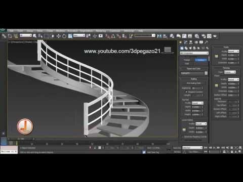 Escalera de pelda os compensados creada en autocad doovi for Escaleras 3d max