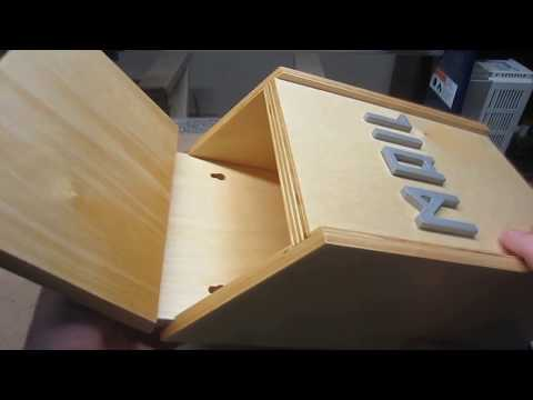 Portrait-Orientation Wooden Mailbox