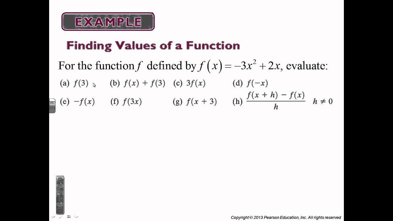 Precalculus Chapter 2 1 Functions