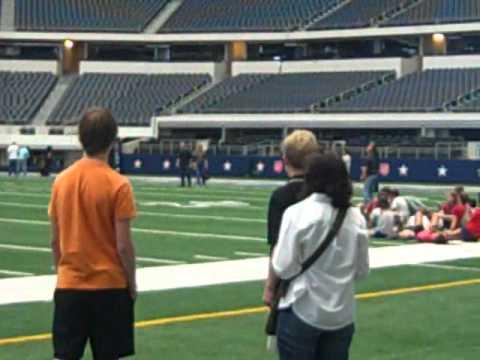 "Cowboys Stadium VIP Tour with Luke Foster and ""TK"" Klund"