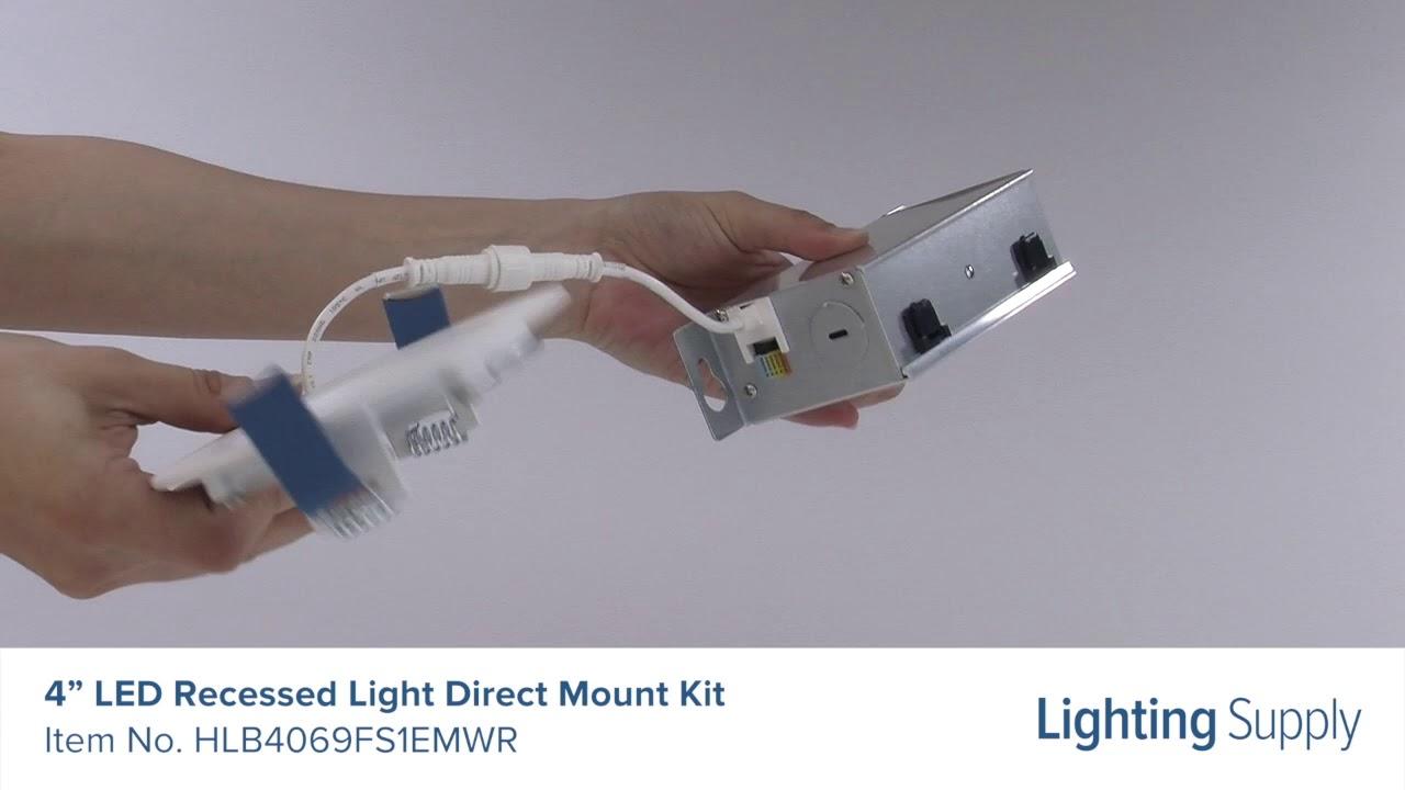 halo 4 led recessed light direct mount kit hlb4069fs1emwr