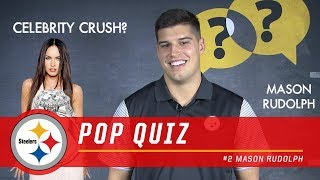 Mason Rudolph Answers Rapid Fire Questions | Pittsburgh Steelers Pop Quiz