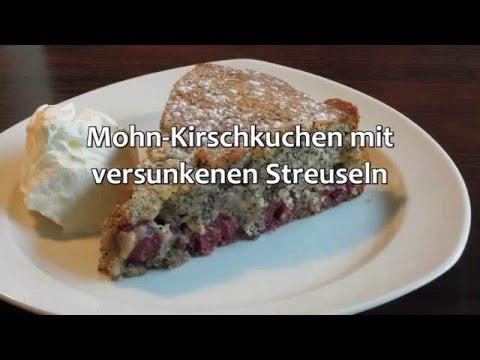 Mohn Kirschkuchen Mit Versunkenen Streuseln Finnkocht Youtube