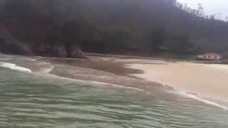 La playa de la Franca desde el espigón