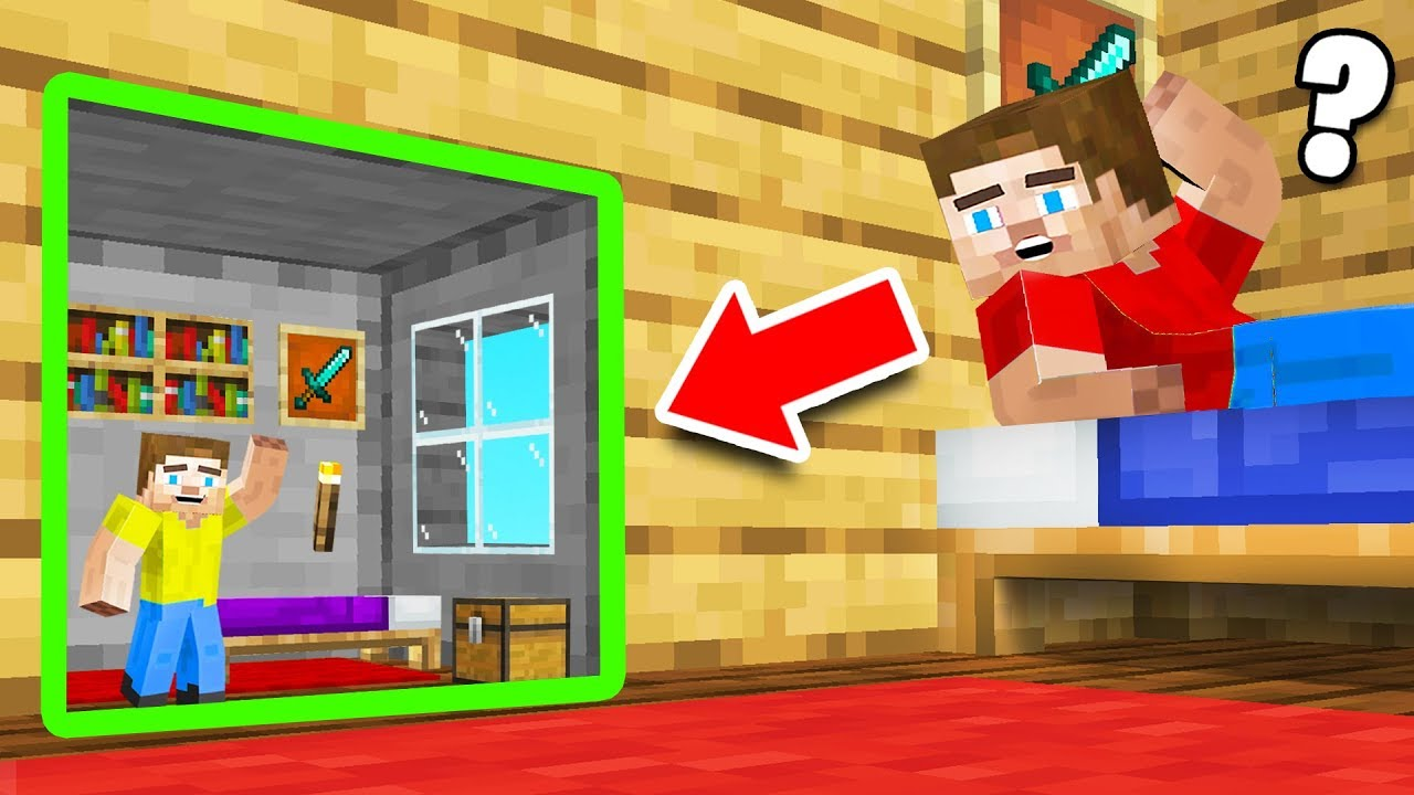 He Built A TINY HOME In My MINECRAFT HOUSE!