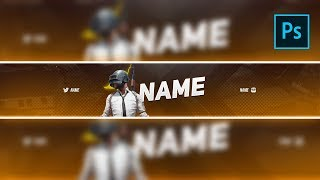 FREE PUBG YouTube Banner Template #2 | PSD | 2019