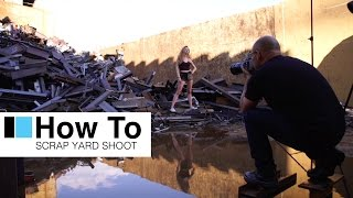 """broncolor """"How To"""" - An urban scrap yard location lighting photo shoot"""