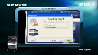 Stratasys Academy | PolyJet Desktop Series: Shutting Down the Printer