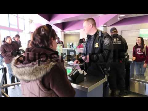 Identifications are checked at the port of entry by U.S. ...