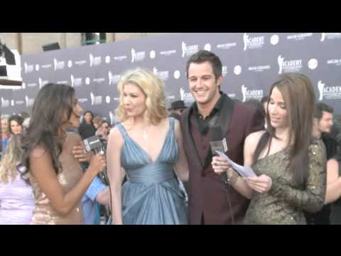 Emily West and Easton Corbin Red Carpet Interview ACM Awards