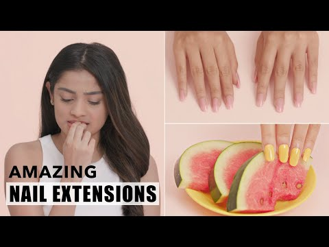 Polygel Nail Extensions For Short Nails | DIY Nail Hacks - YouTube