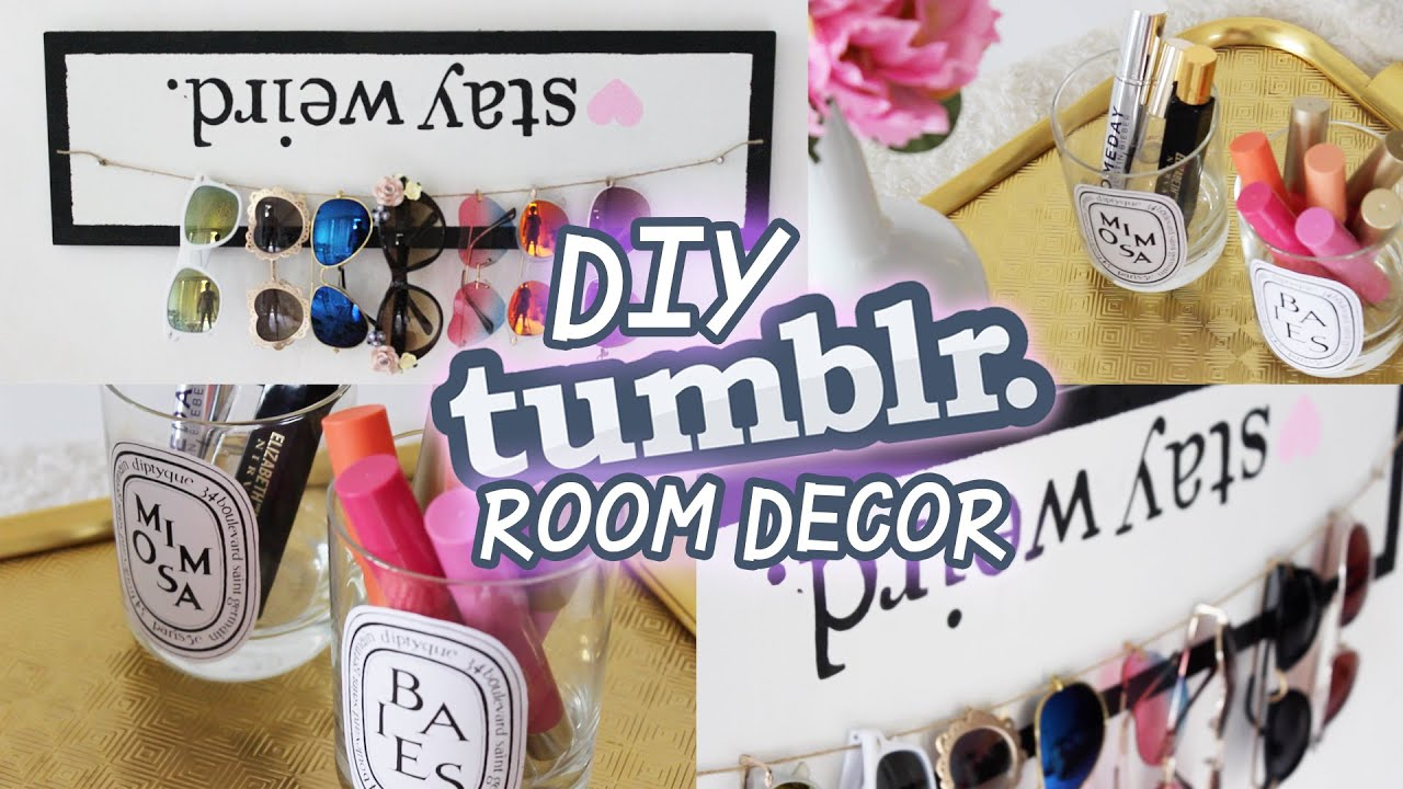 Diy tumblr room decor youtube for Room decor ideas step by step