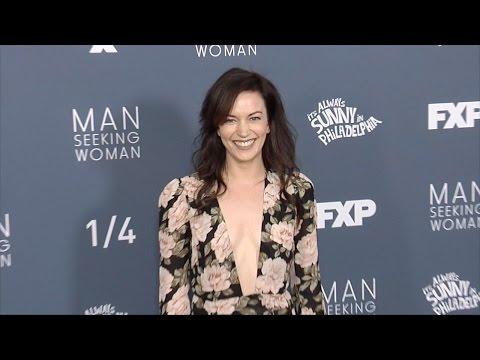 "Britt Lower FXX's ""Man Seeking Woman (Season 3) Premiere Red Carpet"