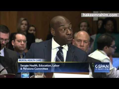 Senate Testimony from Mental Health Speaker Hakeem Rahim
