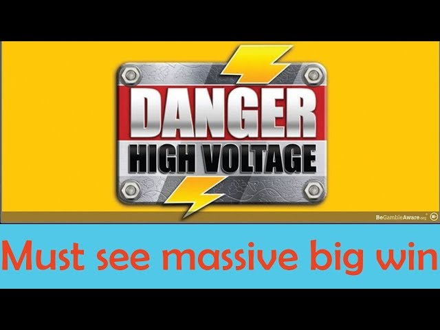 Danger High Voltage Slot mega big win - MUST SEE | Big Time Gaming | CasinoCasino