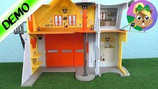 Bombeiro Sam abrindo a caixa: Quartel dos Bombeiros para crianças!