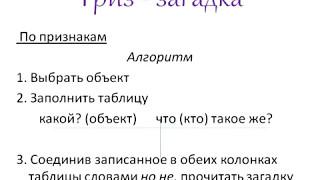 Севидова Е В  Приемы ТРИЗ и РКМ на уроках русского языка