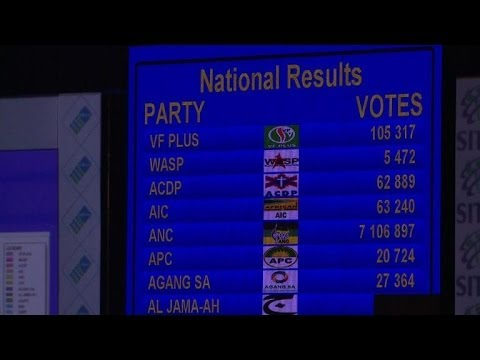 ANC gets 'overwhelming mandate' from South African voters