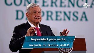 El presidente Andrés Manuel López Obrador señaló que cualquier funcionario, si comete un delito tiene que ser castigado, sea quien sea