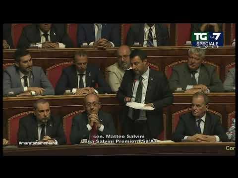 Il discorso integrale di Matteo Salvini in Senato: 'Governo finito per colpa di tanti signor No'