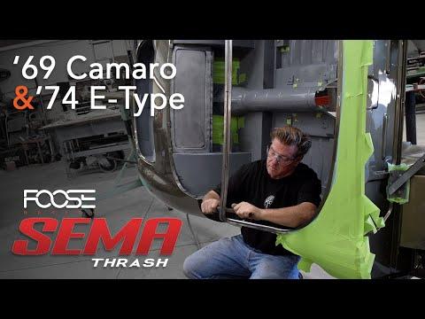 SEMA 2019 Thrash - '69 Camaro & '74 E-Type