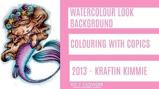 Kit and Clowder - Copic Tutorial Watercolour Background Around Image
