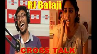 Cross Talk Girl Scolds RJ Balaji in Abusive Language (BAD WORDS) latest-2016