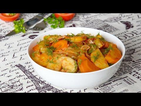 рагу из кабачков и капусты и картошки видео