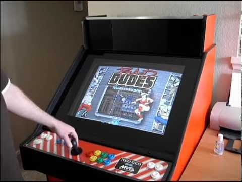 Custom Neo Geo Candy Style Home Made Arcade pt2 - YouTube