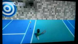 The REAL way to train for Wii Tennis 森山花奈 動画 30