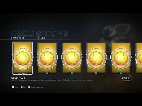 Halo 5 - ($100+ Worth of Gold REQ Packs Opening) EPIC!!!