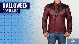 Decrum Men Halloween Costumes [2018]: Decrum Chriss Pratt Star Lord Jacket - Galaxy Costume Leather