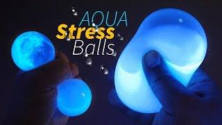 DIY Glow Aqua Squishy Stress Balls ! Liquid Stress Ball | MonsterKids