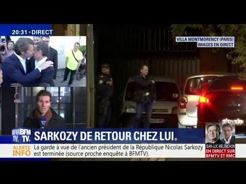 Ce que l'on sait sur la fin de la garde à vue de Nicolas Sarkozy