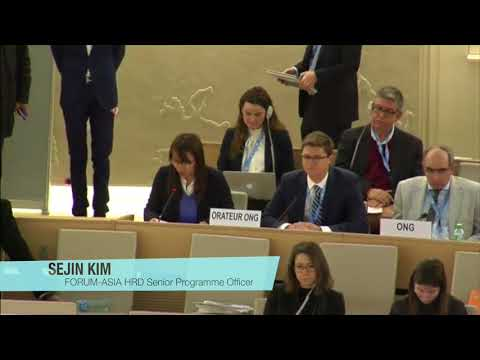 HRC37: FORUM-ASIA statement on the situation of human rights defenders in Asia
