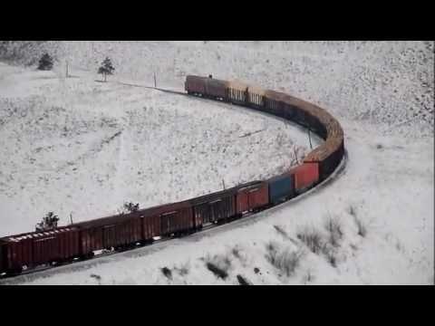 2ТЭ70 с грузовым, Бурятия, февраль 2010