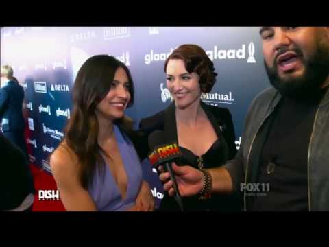 Chyler Leigh and Floriana Lima about their ALL TIME CRUSH  Glaad awards 2017