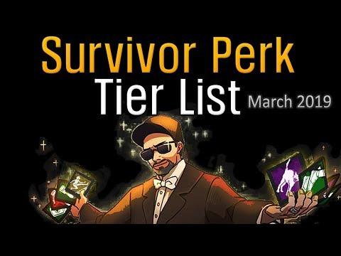 Dead by Daylight - Survivor Perk Tier List (March 2019)
