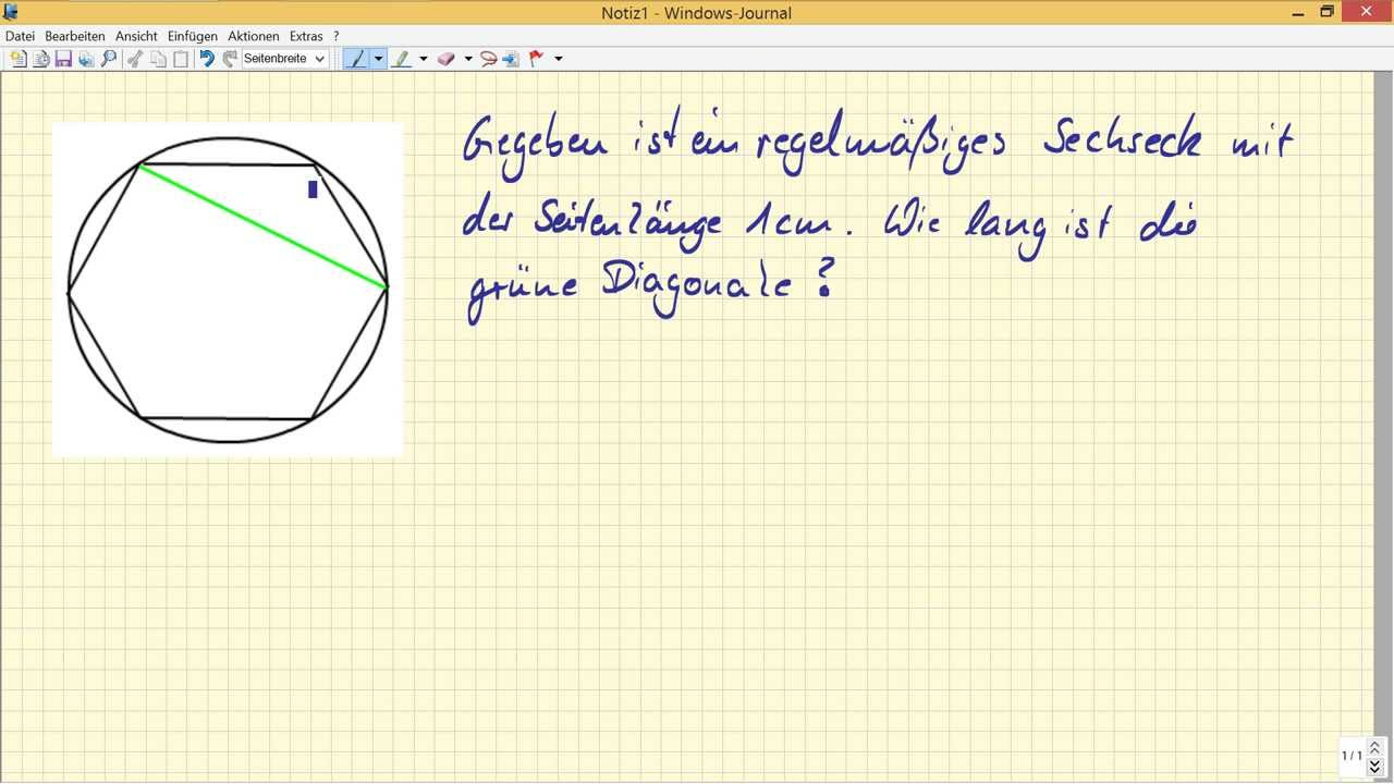 geometrie im sechseck satz des pythagoras youtube. Black Bedroom Furniture Sets. Home Design Ideas