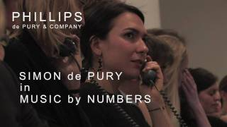 MUSIC BY NUMBERS - SIMON de PURY conducts the MUSIC AUCTION