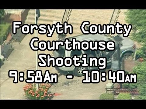 Forsyth County Courthouse, Georgia Sheriff Shot Officer Down