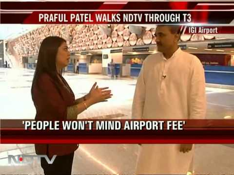 Praful Patel walks NDTV through T3