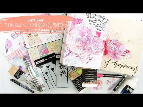 Inkie Haul! ~ Mixed Media, Art Journaling, Scrapbooking and More! + + + INKIE QUILL