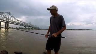 Pole Fishing The River With a 15 ft Hayate By Goture