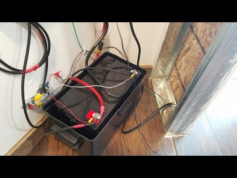 How To Install A Battery To A Cargo Trailer - YouTube